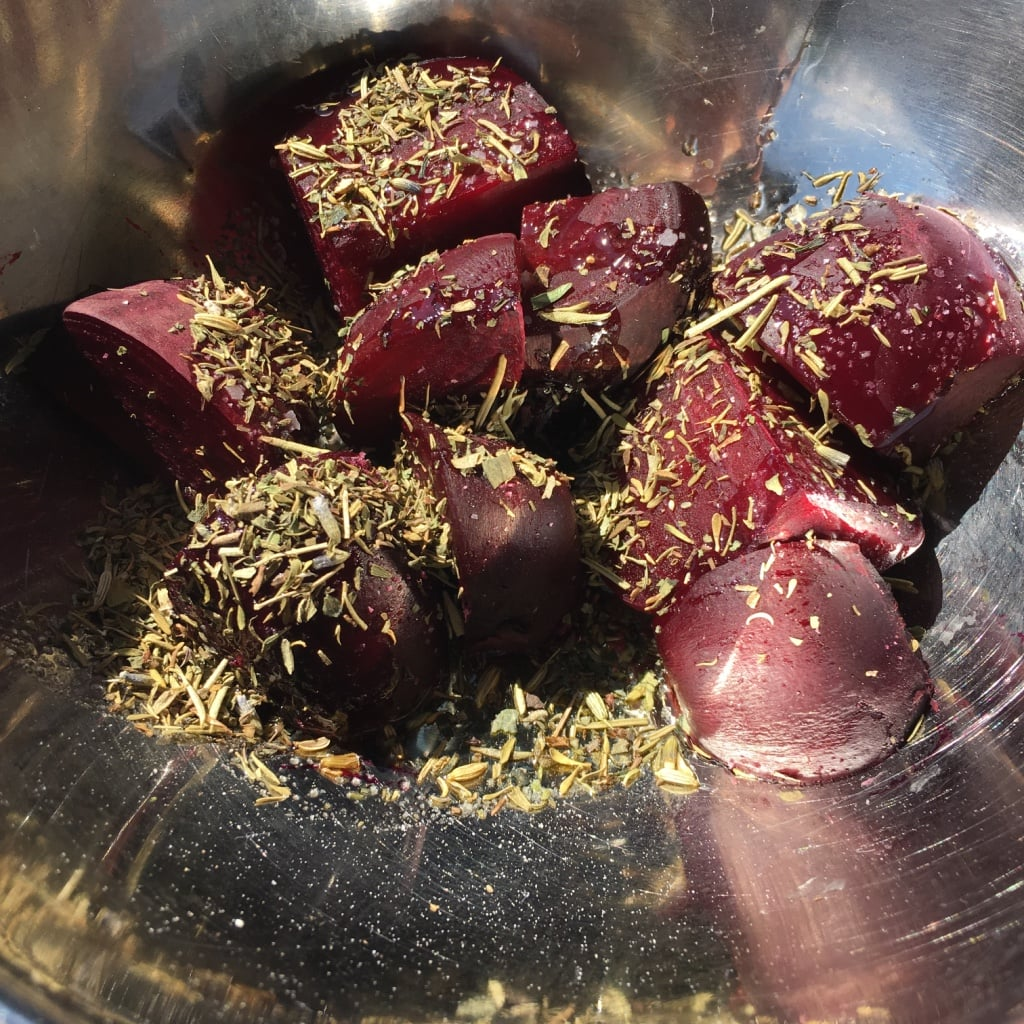 Uncorked Kitchen Backyard BBQ Roasted Beets | No Thanks to Cake