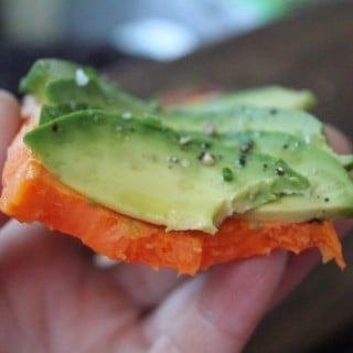 "Sweet Potato Avocado ""Toast"""