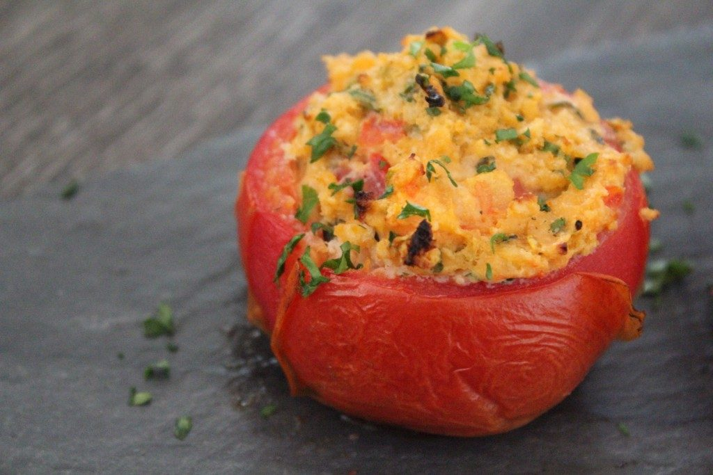 Stuffed Roasted Tomatoes | No Thanks to Cake