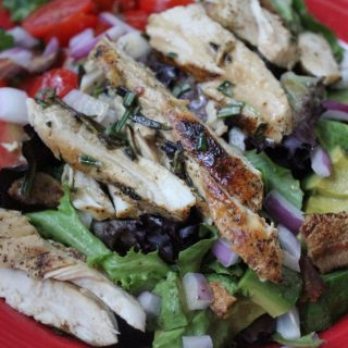 Rosemary Grilled Chicken Salad with Avocado and Bacon