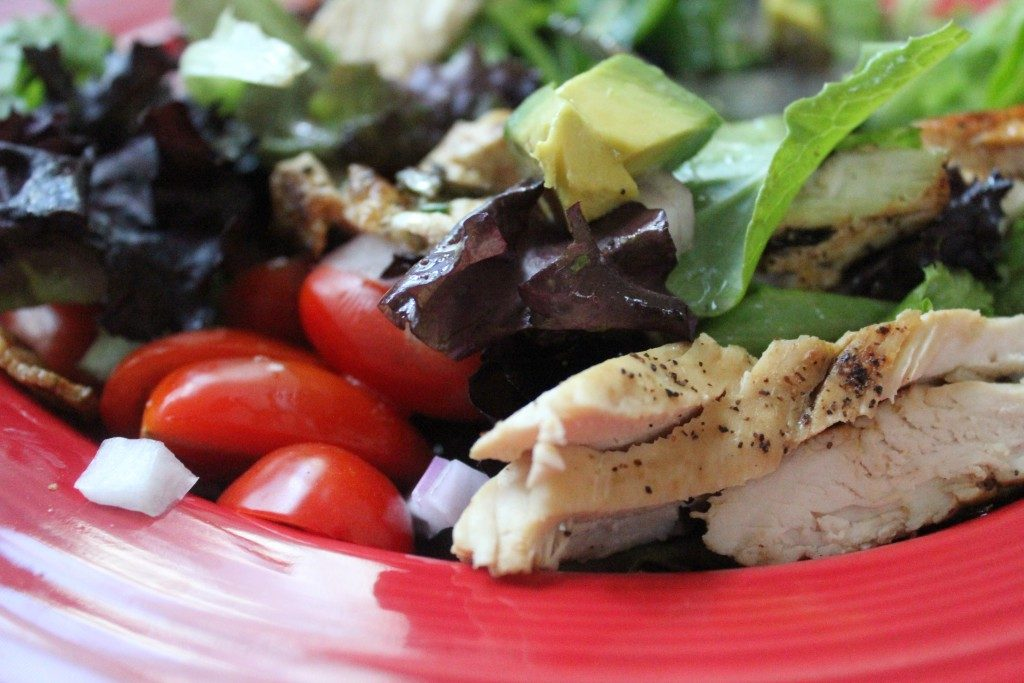Rosemary Grilled Chicken Salad  with Avocado and Bacon | No Thanks to Cake