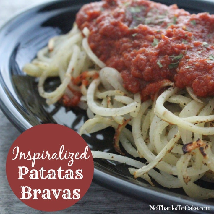 Inspiralized Patatas Bravas | No Thanks to Cake