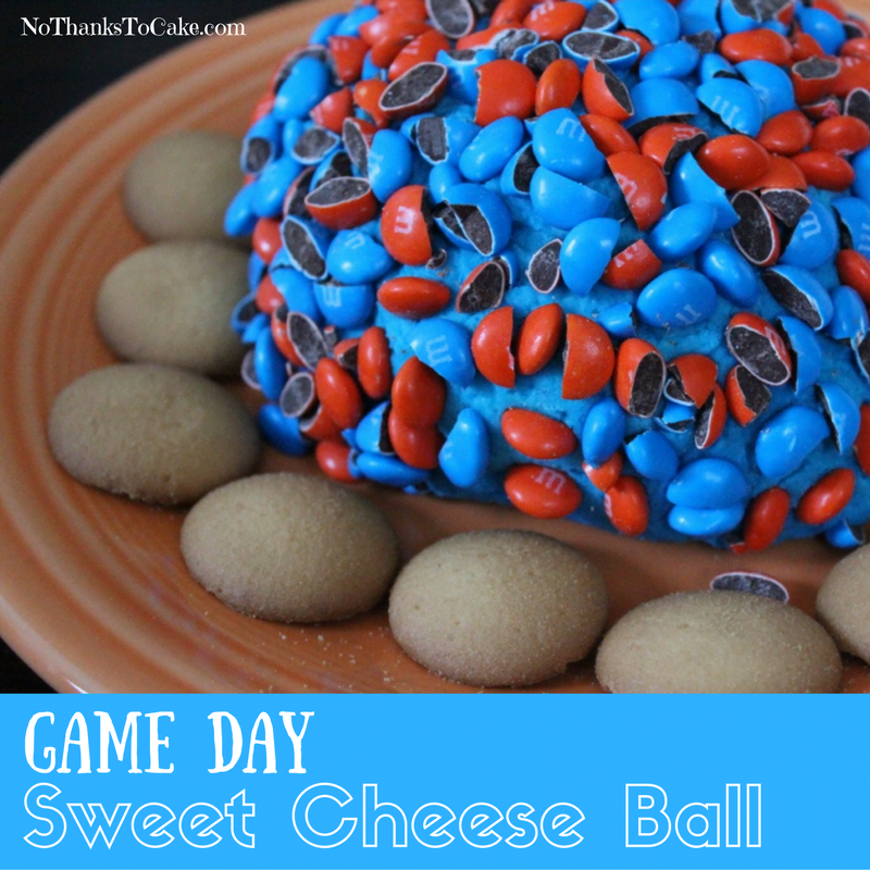 Game Day Sweet Cheese Ball | No Thanks to Cake