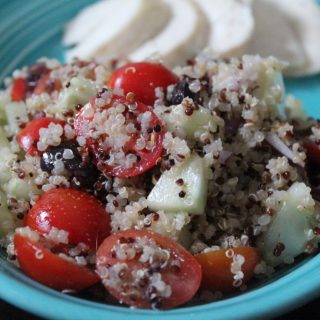 Mediterranean Quinoa Salad | No Thanks to Cake