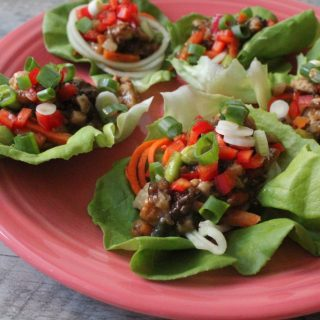 Jenny Craig Recipe Creation:  Loaded Asian Chicken Lettuce Wraps