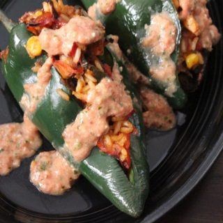 Jenny Craig Recipe Creation: Queso-Topped Stuffed Poblano Peppers