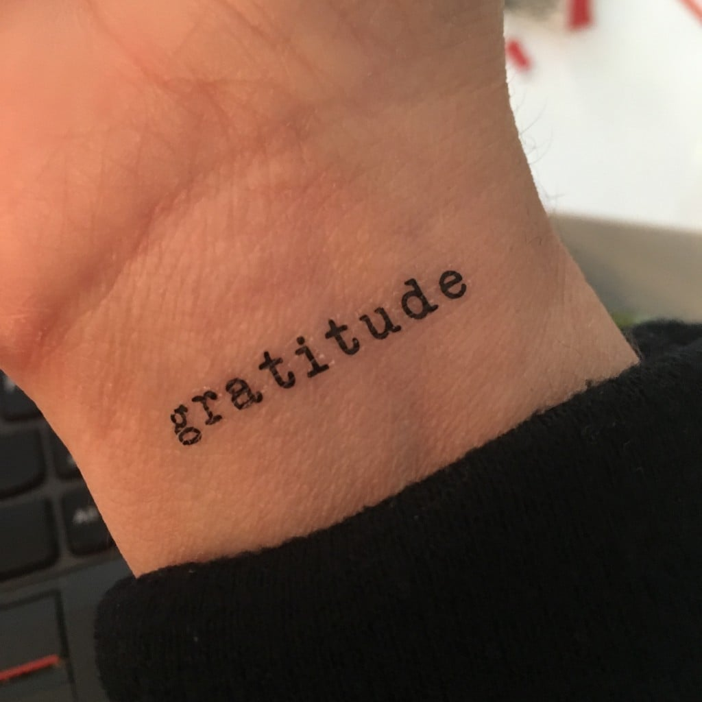 Gratitude Tattoo Flash Tattoo | No Thanks to Cake