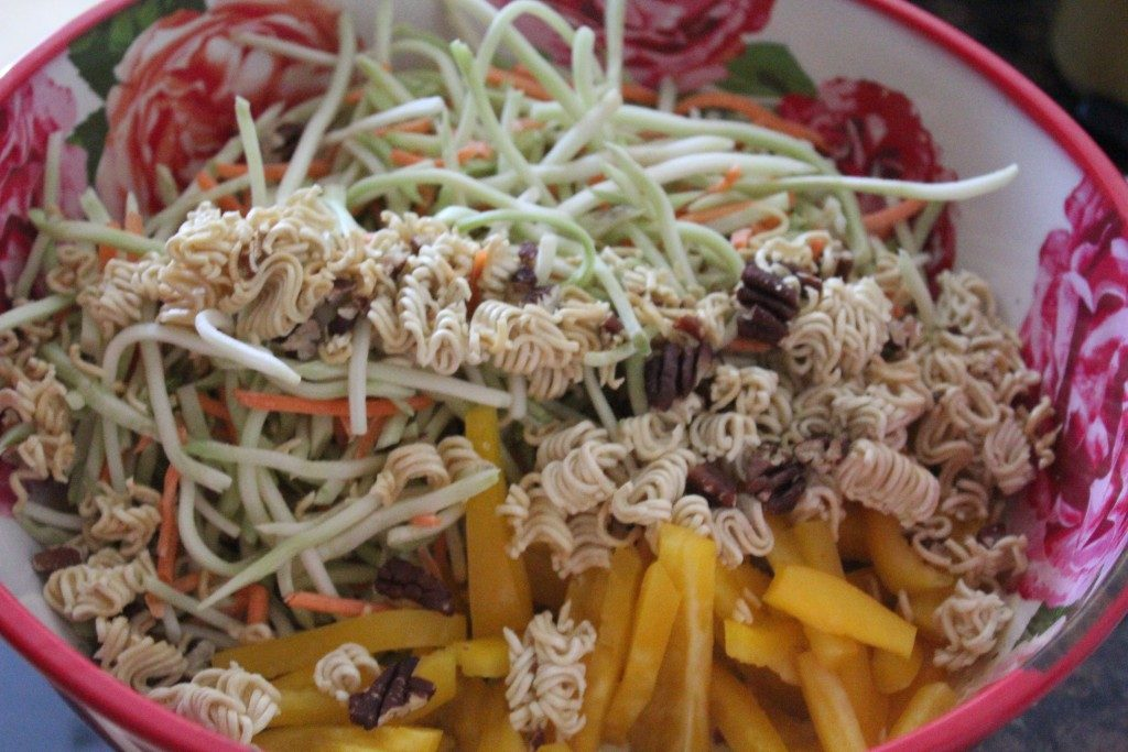 Broccoli Pecan Slaw with Mustard Vinaigrette | No Thanks to Cake