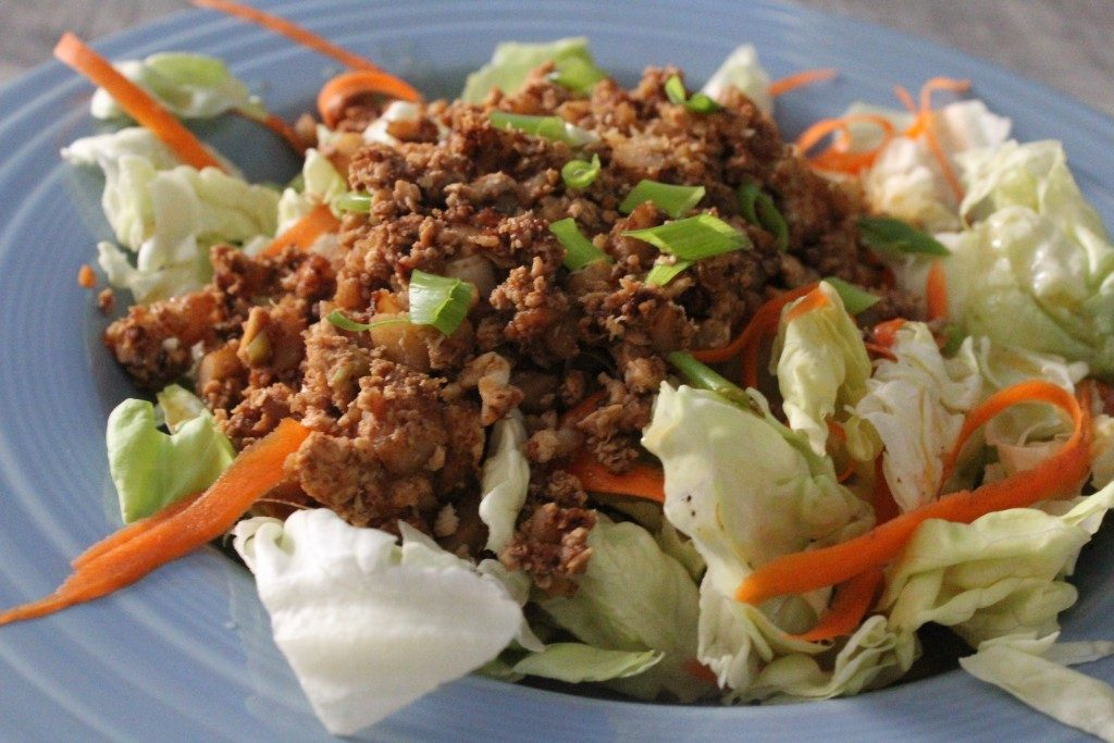 Asian Chicken Lettuce Wrap Salad | No Thanks to Cake