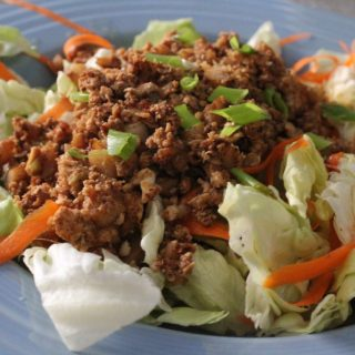 Asian Chicken Lettuce Wraps Salad