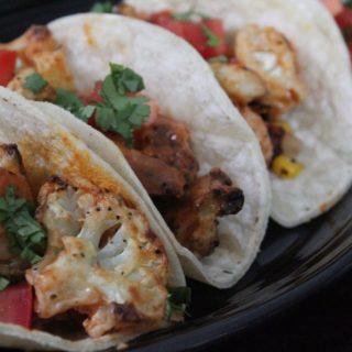 Jenny Craig Recipe Creation:  Buffalo Cauliflower Street Tacos