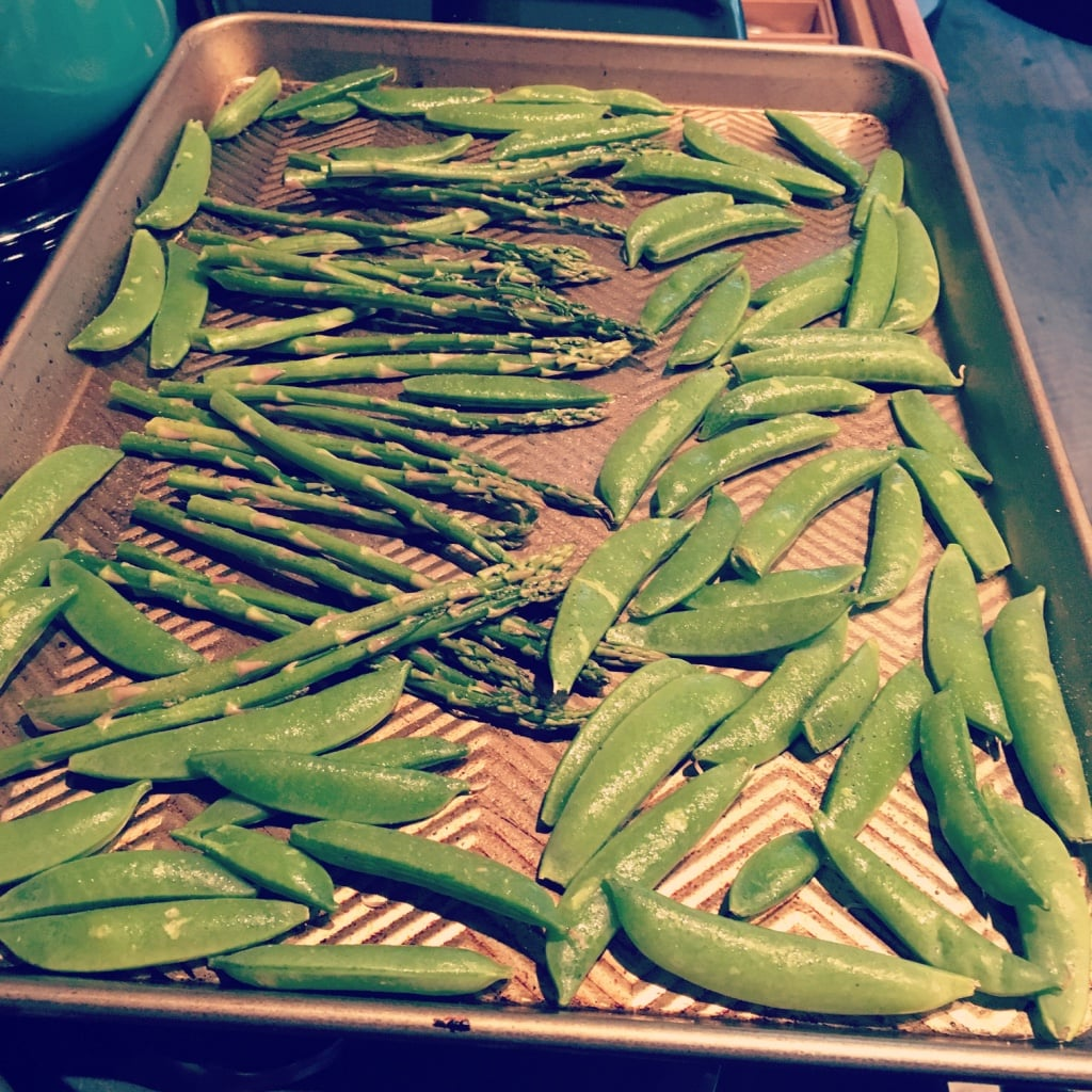 Roasted Snap Peas | No Thanks to Cake