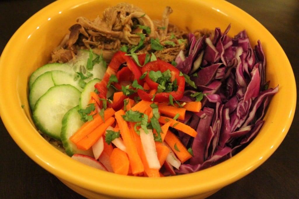 Slow Cooker Banh Mi Bowls | No Thanks to Cake