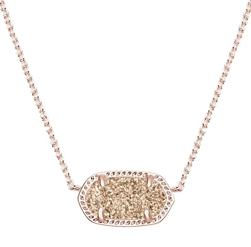 Kendra Scott Elisa Rose Gold Drusy | No Thanks to Cake
