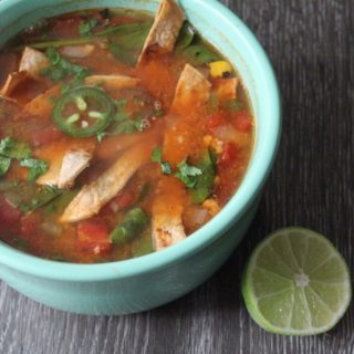 Jenny Craig Recipe Creation:  Chicken Tortilla Soup