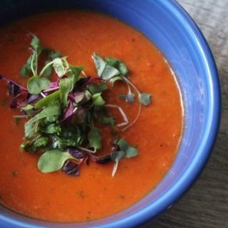 Heirloom Tomato Red Pepper Soup
