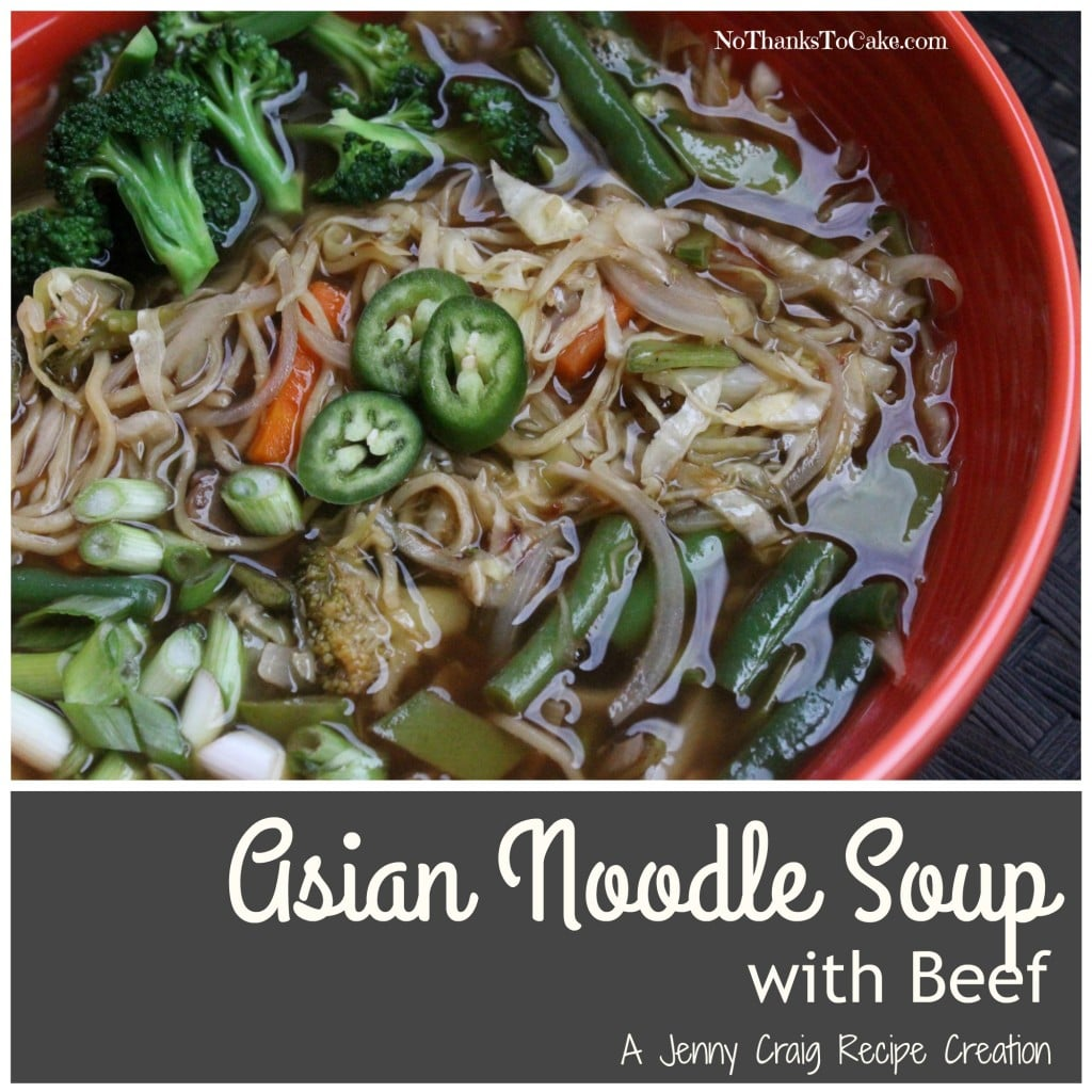 Jenny Craig Asian Noodle Soup with Beef | No Thanks to Cake