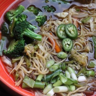 Jenny Craig Recipe Creation:  Asian Noodle Soup with Beef