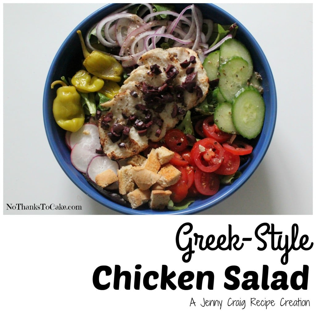 Jenny Craig Greek Style Chicken Salad | No Thanks to Cake