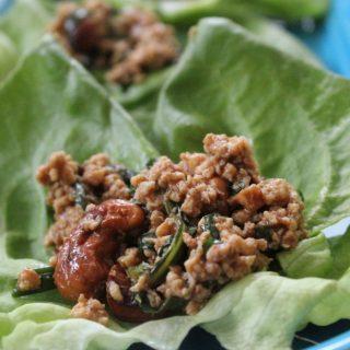 Basil Chicken Lettuce Wraps