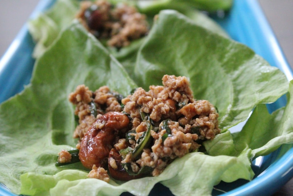 Basil Chicken Lettuce Wraps | No Thanks to Cake