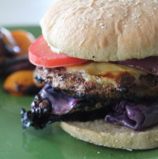 Jenny Craig Recipe Creation: Grilled Veggie-Topped Cheeseburger