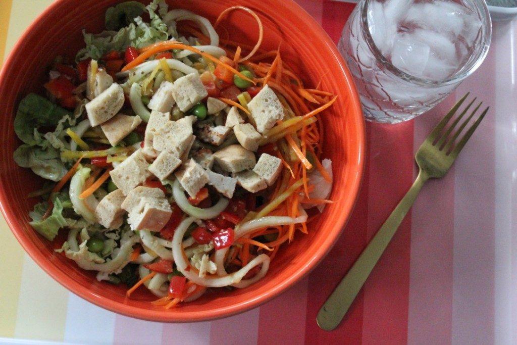 Jenny Craig Recipe Creation:  Asian Chicken Mason Jar Salad