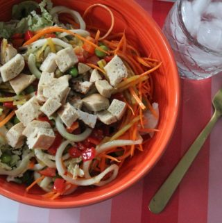 Jenny Craig Recipe Creation:  Asian Chicken Mason Jar Salad