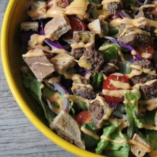 Jenny Craig Recipe Creation:  Cheeseburger Salad