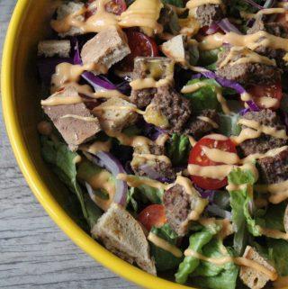 Jenny Craig Recipe Creation:  Cheeseburger Salad