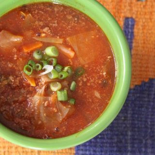 Beefy Cabbage and Tomato Soup