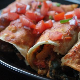 Jenny Craig Recipe Creation: Spinach and Chicken Enchiladas