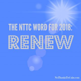 My Word for 2018:  Renew