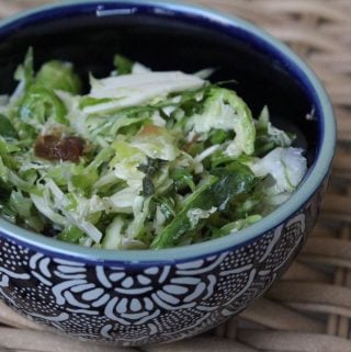 Shaved Brussels Sprouts Salad with Dates & Parmesan (Inspired by Lemonade LA)