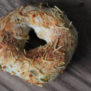 Two-Ingredient Dough: Cheesy Jalapeno Bagels