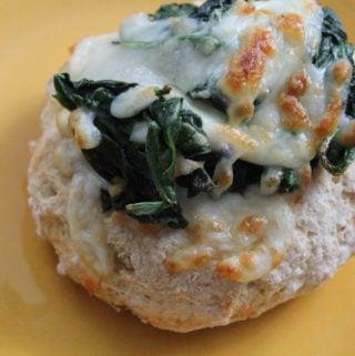 Two-Ingredient Dough Spinach Florentine Bagels {Einstein Bros Bagel Copycat}