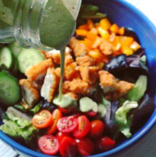 Light and Creamy Basil Salad Dressing